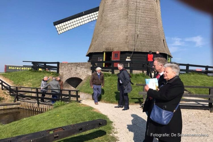 College Alkmaar bezoekt Schermer Molens
