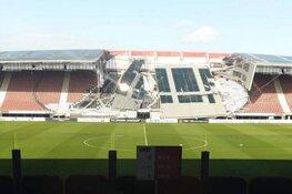 Dak AZ-stadion gedeeltelijk ingestort