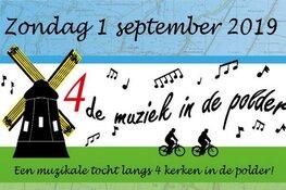 Nieuw: 4de Muziek in de Polder, een muzikale fietstocht langs de kerken in de polder