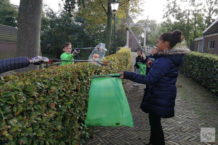 Leerlingen Driessenschool ruimen zwerfvuil op