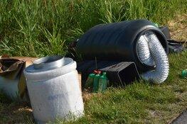 Spullen uit hennepkwekerij gedumpt langs Zuidervaart