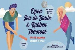 Open Jeu De Boule en Kubben Toernooi op de ijsbaan in Heerhugowaard