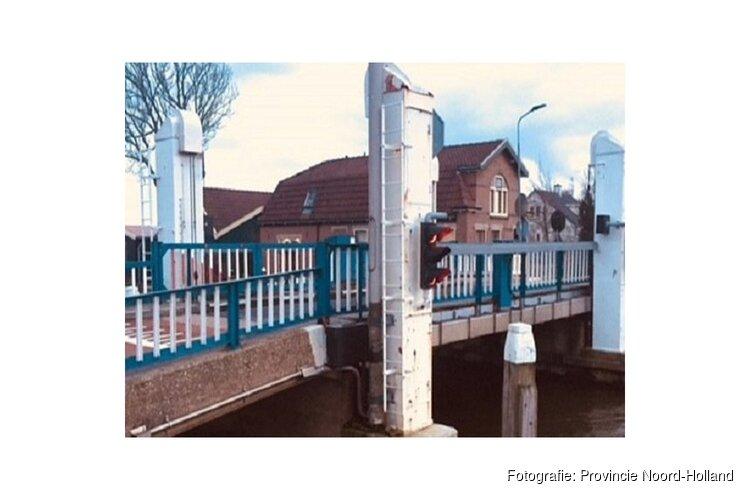 Onderhoud aan hefbrug Oterleek (N508) over de Schermerringvaart